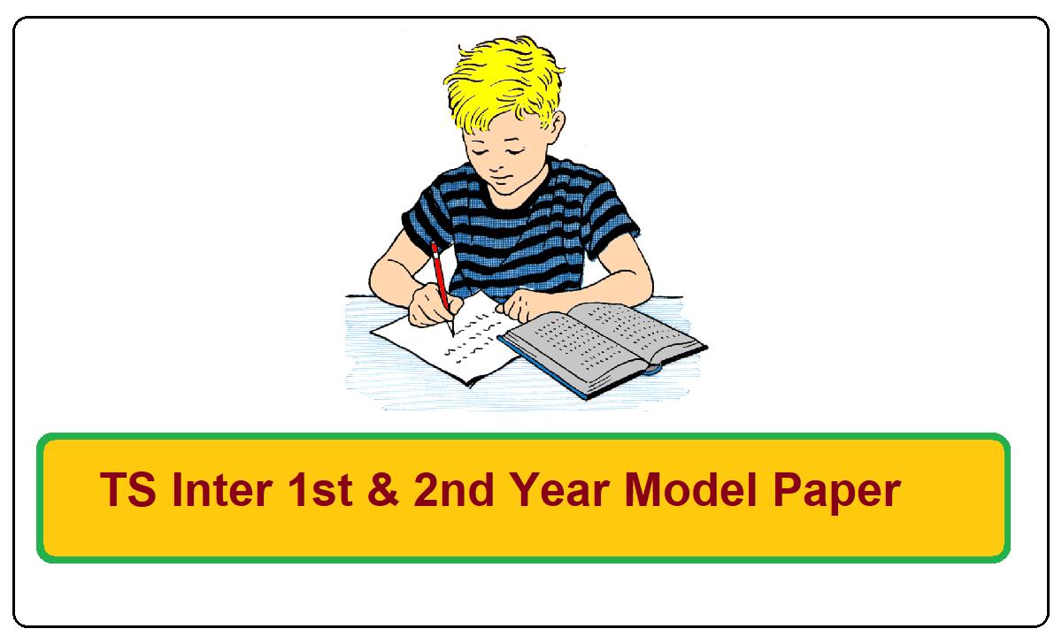Telangana Inter 1st & 2nd Year Model Paper 2022