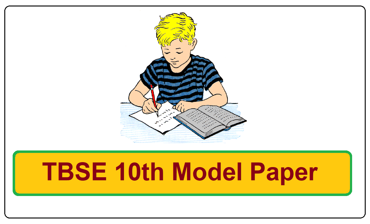 TBSE 10th Model Paper 2021